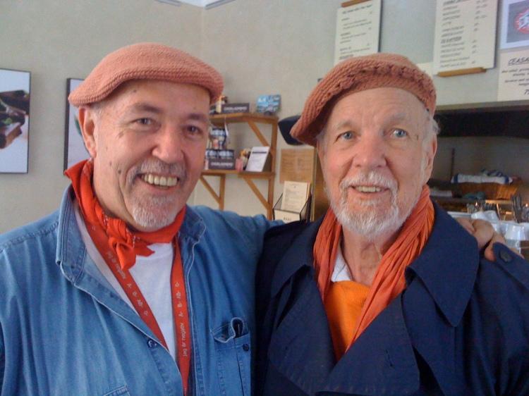 Farbror Nikos med konstnären Olle Bonnier