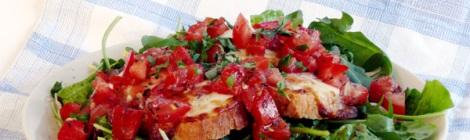 Supergoda bruschette hos Farbror Nikos restaurang, café & galleri