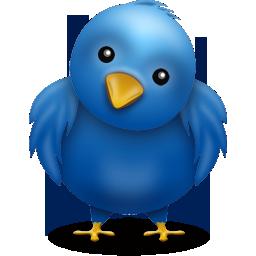 Twitter logotyp - Farbror Nikos restaurang och galleri