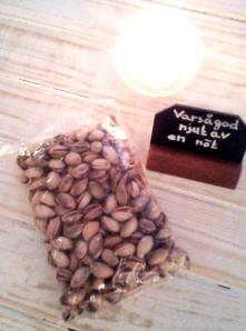 Ekologiska pistaschenötter hos Farbror Nikos café & galleri