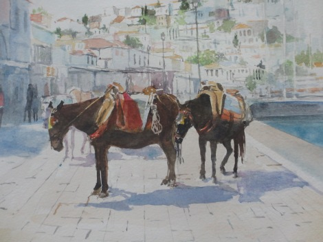 Margaret Sellmark: Åsnor på grekiska ön Aegina