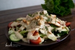 Ceasar sallad med grillkryddad kyckling farbror nikos special dressing