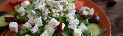 Klassisk grekisk sallad med fetaost