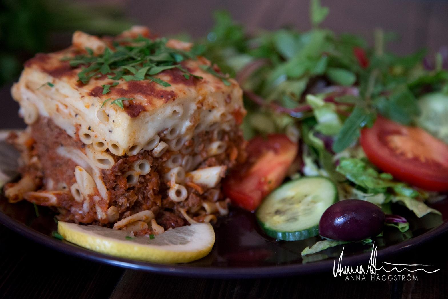 Pastitsio grekisk lasagne med nötfärs