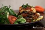 Laktos- och glutenfri vegetarisk moussaka på Farbror Nikos café & galleri i Stockholm