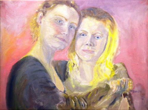 Systrar av Bertil Jansson - utställning på Farbror Nikos restaurang, café, galleri & jazzklubb