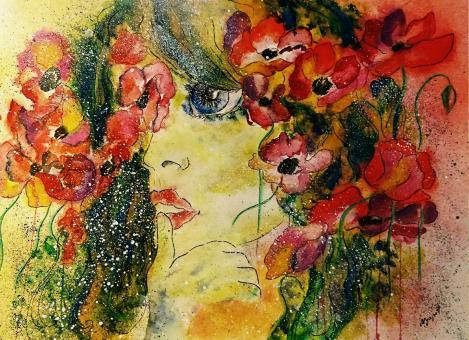 Florerande jäntor av Olga Getmanes