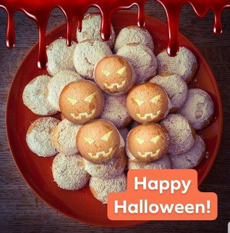 Glad halloween på Farbror Nikos café & galleri