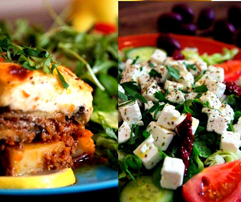 Moussaka med liten grekisk sallad
