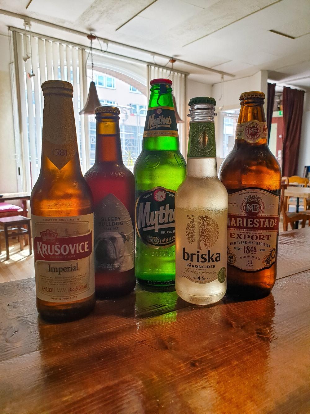 Öl, cider & ale på Farbror Nikos