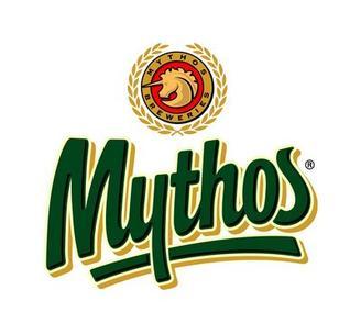 Logotyp för grekiska ölsorten Mythos