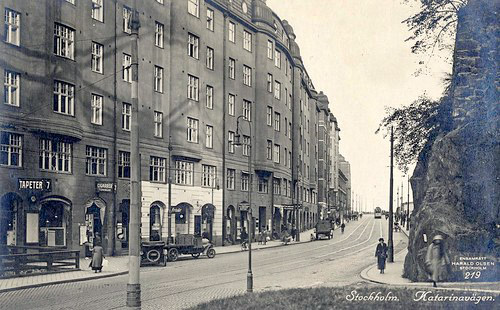 Många butiker på Katarinavägen en gång i tiden