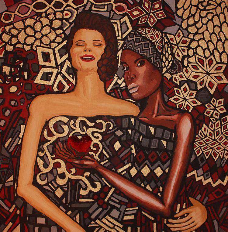 Främling - tavla av Sara Stenvi